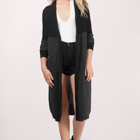 Blocked Out Long Cardigan