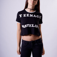 """Teenage Wasteland"" Crop Tee"