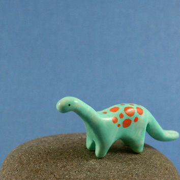 Little Dinosaur - Hand Sculpted Miniature Polymer Clay Animal