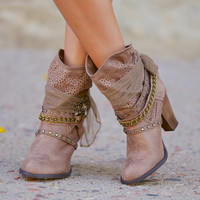 It Doesn't Get Much Better Booties - Taupe
