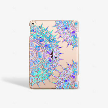 Mandala iPad Mini Case iPad Air 2 Hard Case iPad Mini 4 Cover Blue iPad Case Clear iPad Air Hard Case iPad Pro Cover iPad Pro Case Clear