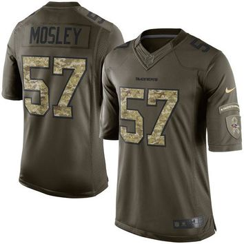 Men's Baltimore Ravens C.J. Mosley Nike Green Salute To Service Limited Jersey