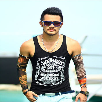 Tank Top Men Bodybuilding Clothing and Fitness Mens Sleeveless Shirt Sports Vests Cotton Singlets Muscle Tops #T02