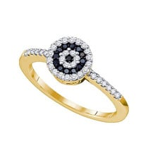 Black Diamond Fashion Ring in 10k Gold 0.3 ctw