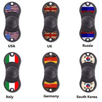2017 high quality Fingertip gyroscope Custom special patterns fidget toy EDC Fingertip Gyroscope with National flag Customized