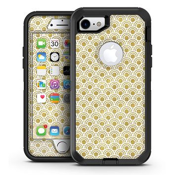 White and Gold Foil v4 - iPhone 7 or 7 Plus OtterBox Defender Case Skin Decal Kit