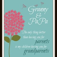 Grandparents Print - Gift For Mom - Grandparent gift - Gifts for Mom - Mothers Day - Grandparent Print - Grandparents Day