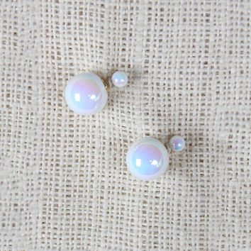Pearl Double Sided Earrings