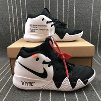 OFF WHITE x Nike KYRIE 4 AJ1691-100 Basketball Shoes - Best Online Sale
