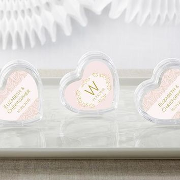 Heart Favor Container - Modern Romance (Set of 12) (Available Personalized)