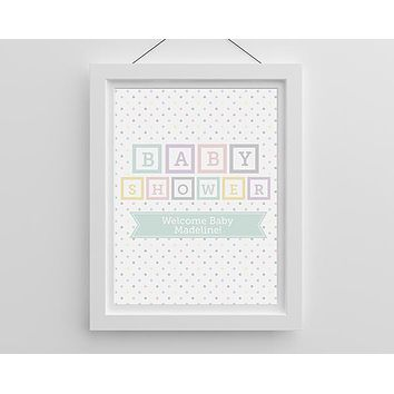 Personalized Poster (18x24) - Baby Blocks