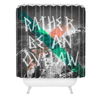 Wesley Bird Rather Be An Outlaw Shower Curtain