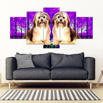 Cute Havanese 5 Piece Framed Canvas- Free Shipping