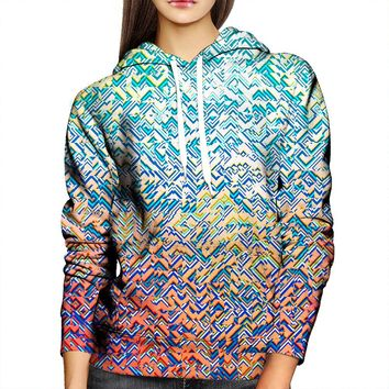 Color Blocks Womens Hoodie