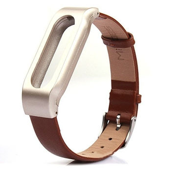 Mi-jobs Leather Bracelet Replacement for Xiaomi MiBand Wrist Strap Smartband + Tools