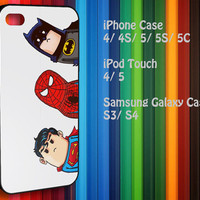 Samsung Galaxy S3/ S4 case, iPhone 4/4S / 5/ 5s/ 5c case, iPod Touch 4 / 5 case : Crooked Neck Batman and Friends