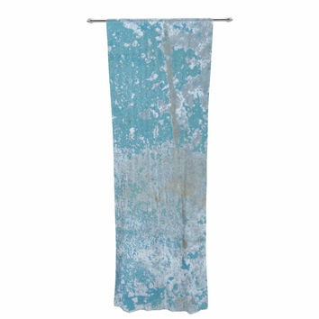 "Jennifer Rizzo ""Galvanized Blue"" Vintage Gray Decorative Sheer Curtain"