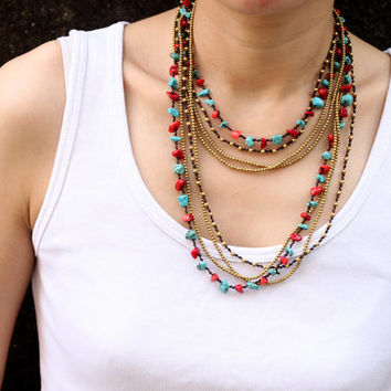 Fire And Ice Long Wrap Necklace