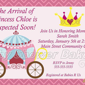Printable Princess Baby Shower Invitation, Princess Baby Shower Invitation, Baby Shower Invitation for Girl, Baby Princess Baby Shower