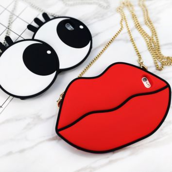 Big red lips phone  case iPhone7 lips eyes personality apple 7plus protective cover 6s