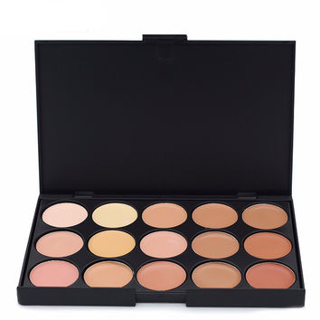 1 PCS Professional 15 Color Camouflage Facial Concealer Palettes Neutral Contour Cream Makeup set Cosmetic