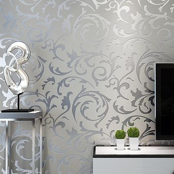 Classic Luxury 3D Floral Embossed Textured Wall Paper Modern Wallpaper for Walls Roll Living room Bedroom Wallpapers Home Decor