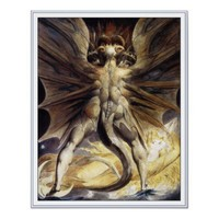 William Blake Poster Print: Great Red Dragon from Zazzle.com