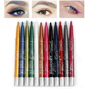 MENOW Brand Auto-rotate Eye Liner Eye Shadow Makeup Set Eye Liner Pencil Long-lasting Natural Eye Liner Shadow Cosmetics