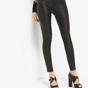 Stretch-Leather Leggings | Michael Kors