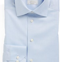Eton Contemporary Fit Solid Dress Shirt,