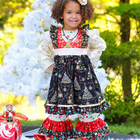 Christmas Dress, Handmade for Little Girls, Babies and Toddlers - sizes 6 months to 10 years PinkMouseKids