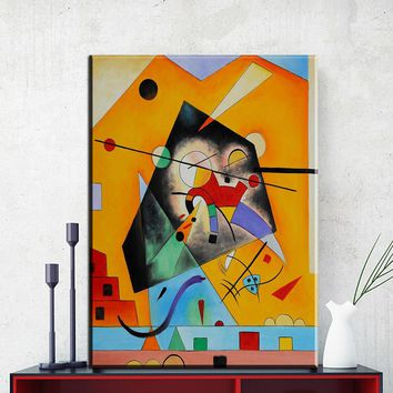 ZZ1174 Wassily Kandinsky - Rose with Gray Classic Geometric Abstract Art Canvas Print Painting Poster Wall Pictures For Home art