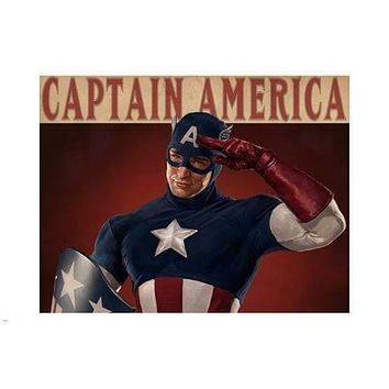 vintage CAPTAIN AMERICA POSTER red white and blue ACTION FIGURE 24X36 rare