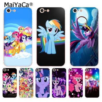 MaiYaCa Binful Magic My Little Pony soft tpu phone case cover for iPhone 8 7 6 6S Plus X 10 5 5S SE 5C case Coque