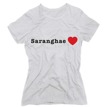 Saranghae (I Love You in Korean) Graphic Tee