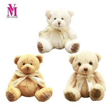 Vanmajor 1pc 20cm Patch Bear Dolls Teddy Bear Plush Toy Bear Wedding Dolls Baby Toy Birthday Gift Brinquedos Soft Toys Kids Doll