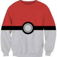 European and American fashion digital printing Pokemon ball casual Sweatshirts long sleeved loose Sweatshirt casual hoodie G210 = 1931796164