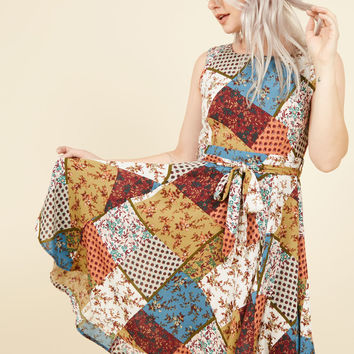 Girl Meets Twirl A-Line Dress in Patchwork | Mod Retro Vintage Dresses | ModCloth.com