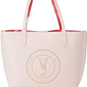Versace EE1VRBBQB Light Pink Tote Bag W/detachable storage pouch and shoulder strap for Women