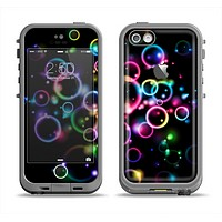 The Glowing Neon Bubbles Apple iPhone 5c LifeProof Fre Case Skin Set