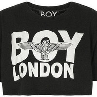 Boy London Gold Print Crop Top