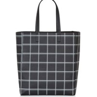 Monochrome Check Shopper Bag