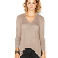 Free People Drippy Thermal Sunset Park Long-Sleeve Top