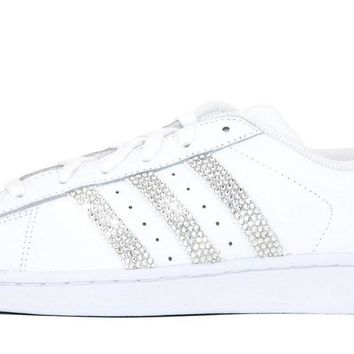 Adidas Superstar + Crystals - Triple White