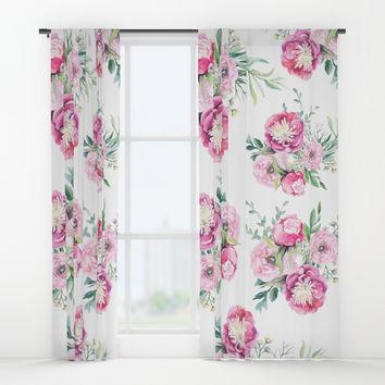 hurry spring Window Curtains by sylviacookphotography