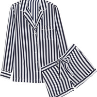Equipment Lilian striped washed-silk pajama set – 64% at THE OUTNET.COM