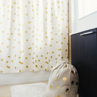 Gold Polka Dot Shower Curtain