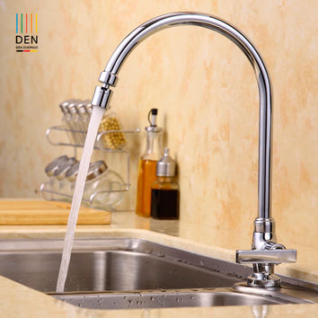 Copper Kitchen Faucet Wash Dish Basin Sink Tank Pool Of Single Hole Seat Type Universal Rotary Head