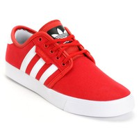 adidas Seeley Red Canvas Skate Shoes