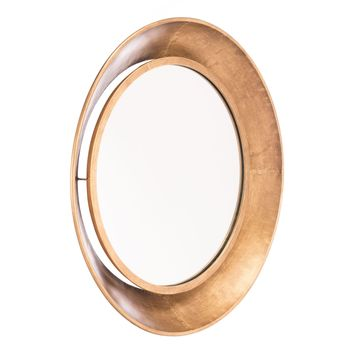 Gold Ovali Wall Mirror, Large